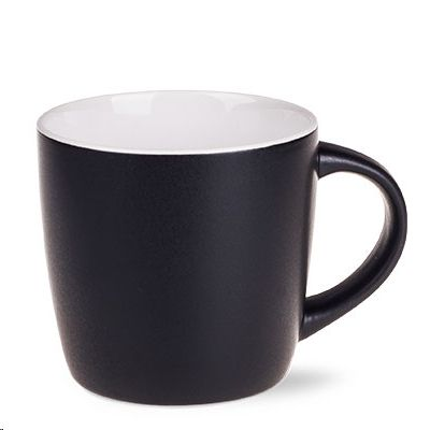 Šalica HANDY SUPREME, 300 ml, keramička, crno-bijela
