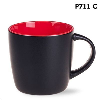 Šalica HANDY SUPREME, 300 ml, keramička, crno-crvena