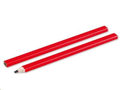 Olovka, tesarska, crvena