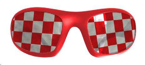 Navijačke naočale, kockice, crvene
