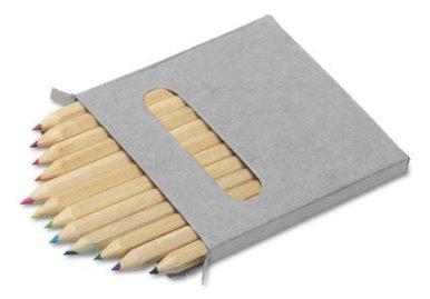 Bojice, drvene, male, 12 komada u kartonskoj kutiji