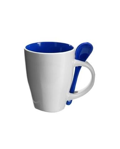 Šalica, keramička, bijelo-plava