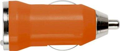 Punjač za auto, USB, narančasti