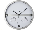 Zidni sat, sa termometrom i hidrometrom, srebrni