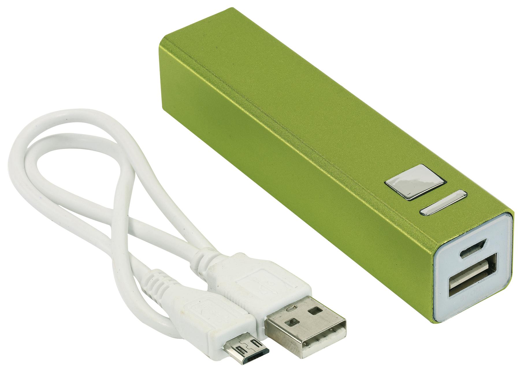 Powerbank za smartphone, svjetlo zeleni, 2200mAh