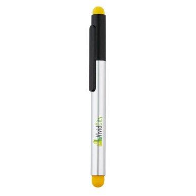 Kemijska olovka s držačem Stylus, touch, žuta