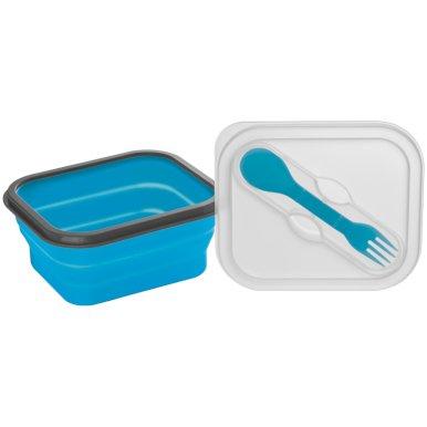Posuda za hranu, sklopiva, silikonska, mala, plava