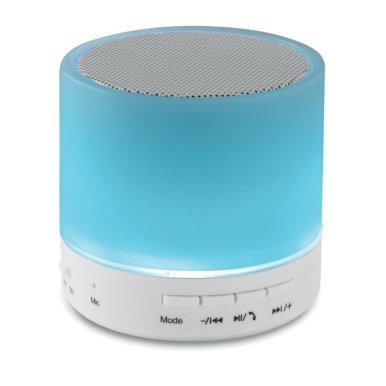 Zvučnik s led svjetlom u 3 boje, bluetooth 450 mAh, bijeli