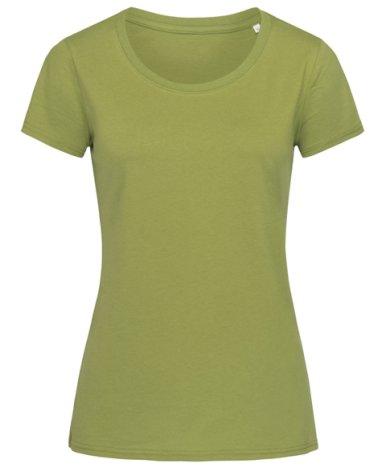 Majica, KR, Crew Neck, JANET Organic, ženska, 155 gr., earth green, L