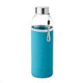 Boca za vodu staklena UTAH GLASS u neopren vrećici  500 ml  crna