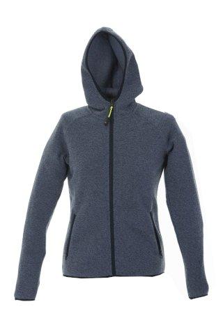Pulover Quebec, ženski, pleteni, zip, s kapuljačom, svijetlo plavi, S
