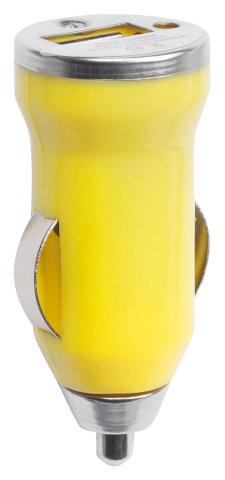 Punjač za auto, USB, žuti