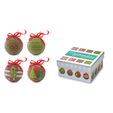 Set Božićnih kuglica, 4 komada, u kutiji