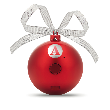 Zvučnik, oblik božićne kuglice, crvena