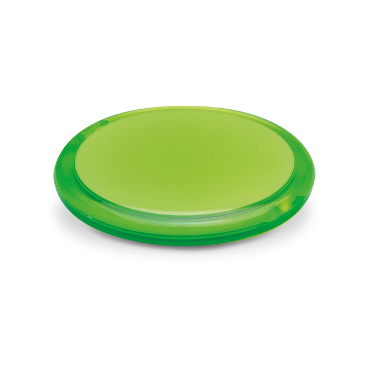 Ogledalo, dvostruko, džepno, svijetlo zeleno