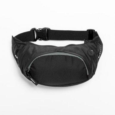 Pojasna torbica, crno-siva