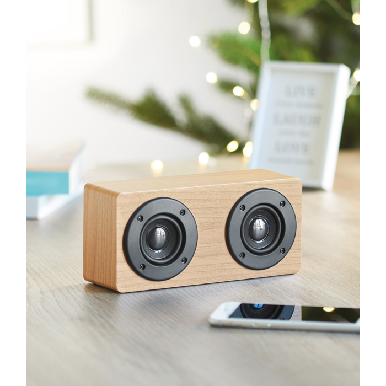 Zvučnik, bluetooth, drveni