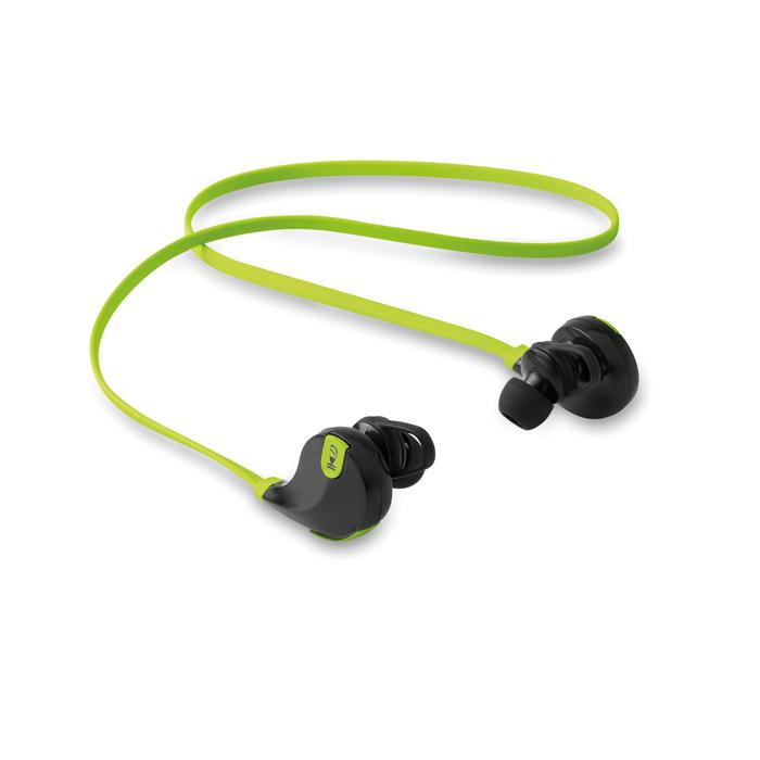Slušalice za mobitel, bluetooth, s mikrofonom, zelene