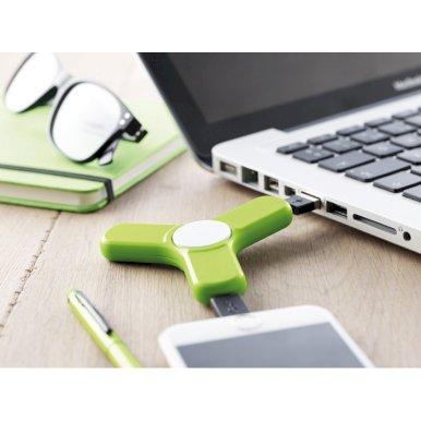 Spinner s USB kablovima, zeleni