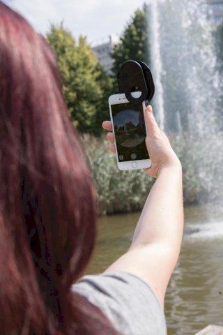 Leća, za mobilnu kameru, 3 u 1 , crna