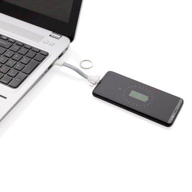 Privjesak s USB kablovima, sivi