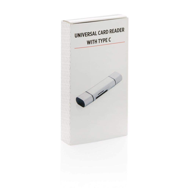 Čitač kartica, univerzalni, sivi