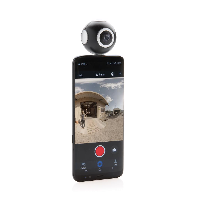 Kamera, dual lens 360, crna
