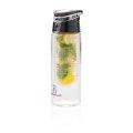 Boca za vodu, s umetkom za voće, plastična, sivi čep, 700ml