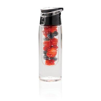 Boca za vodu, s umetkom za voće, plastična, 700ml