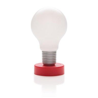 Lampa push, crveno/bijela