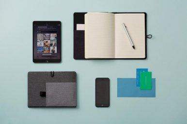 Notes,Kyoto, s džepićem za mobitel i tablet. sivi