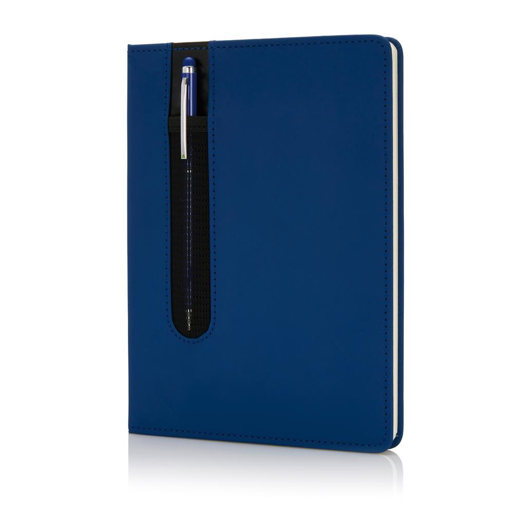 Blok A5, Deluxe 80 str s linijama,touch olovka, crveni