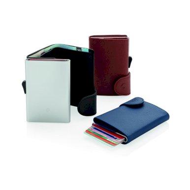 Etui za  kartice, novčanik, RFID zaštita podatka, PU-aluminij, crni