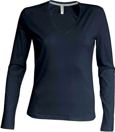 Majica, DR, V izrez, 180 gr. ženska, bijela S