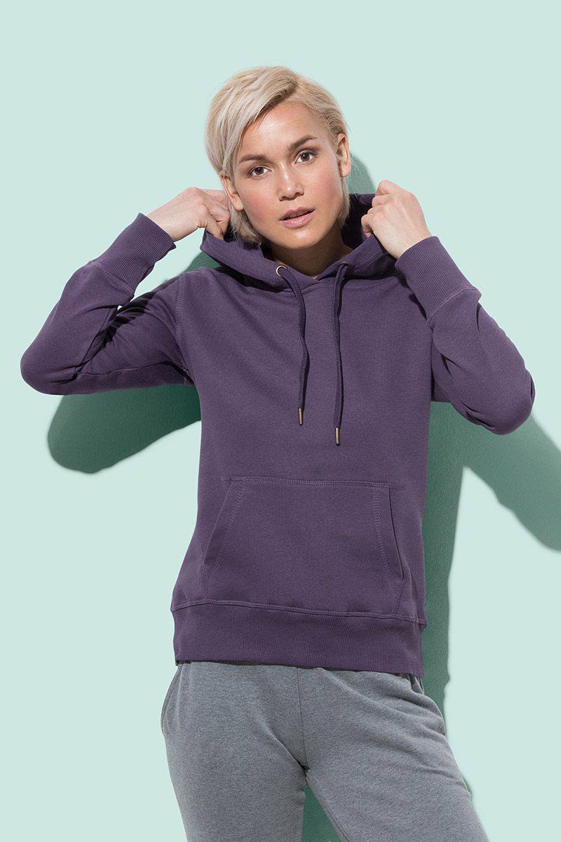 Pulover, DR, Active Sweat Hoody, women, 270 gr, deep berry, S