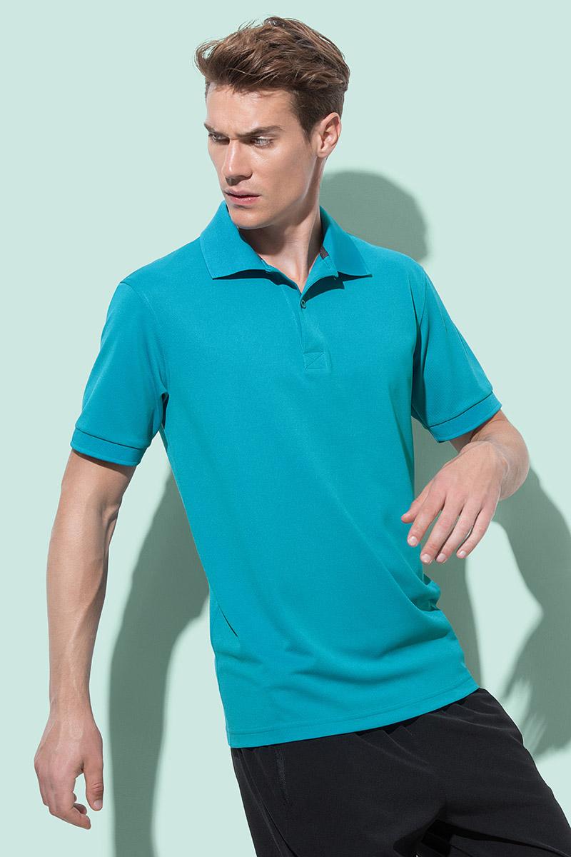 Majica, KR, Polo Active pique, poliester, 180 gr, bahama green, XL