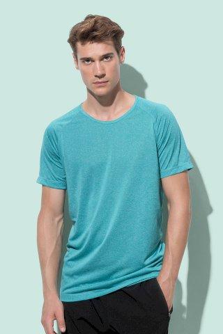 Majica, Active performance Raglan, turquoise, 140 gr, S