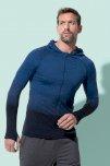Jakna Active s kapuljačom muška,Activ-DRY, blue transition,S