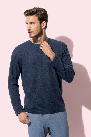 Majica pletena dugi rukav muška,dark grey melange,210g,umjetna tkanina,XXL