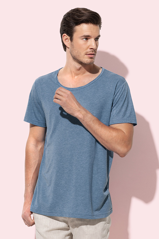 Majica, David oversized, vintage blue, 140 gr, L
