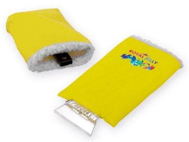 Strugalica za led s rukavicom, žuta