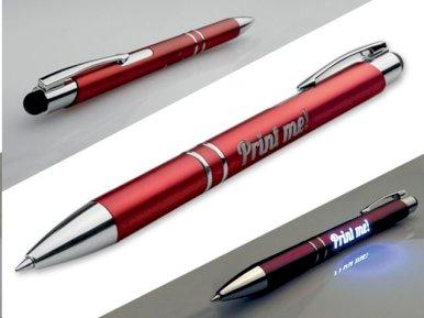 Kem. olovka Oleg light, sa svijetlećim logom, plava