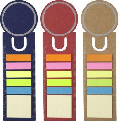 Bookmark sa samoljepljivim blokićima, crveni