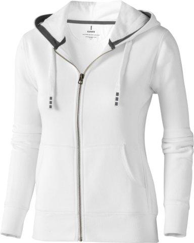 Majica, DR, hooded sweat, na kopčanje, bijela ženska, L
