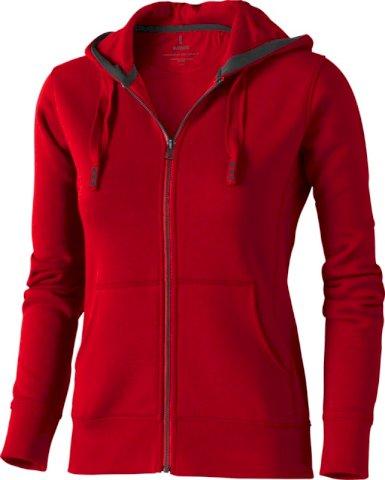 Majica, DR, ARORA hooded sweat, cif kopčanje,crvena, ženska, L