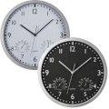 Zidni sat, sa termometrom i hidrometrom, crni