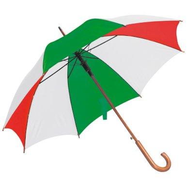 Kišobran, automatski, zakrivljena drvena ručka