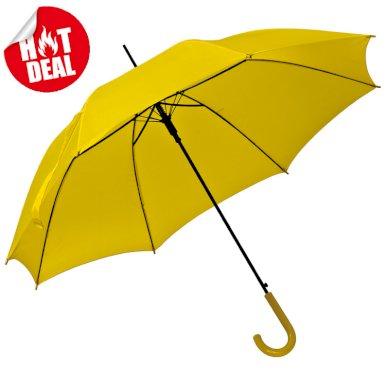 Kišobran, automatski, zakrivljena plastična ručka