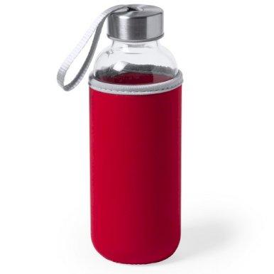Boca,  staklena s navlakom, 420 ml, crvena