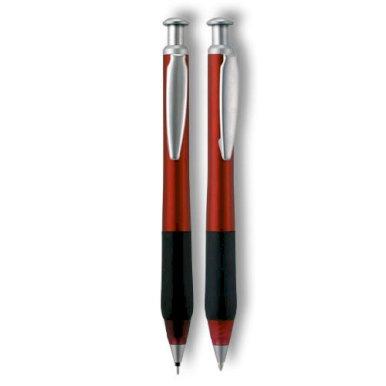 Pisaći set, Bristol, kem. olovka + teh. olovka, crveni